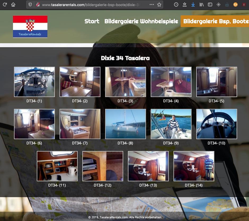 Yachtcharter Kroatien – TasaleraRentals.com – Dixie 34 Taselera